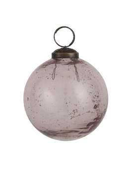 Nordic House Vintage Pink Glass Bauble