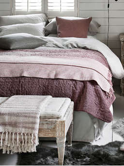 Nordic House Striped Melange Throw