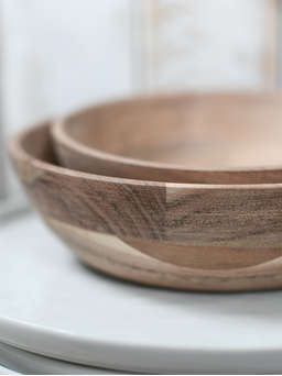 Nordic House Mini Wooden Bowl Set