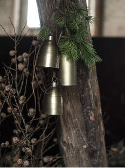 Nordic House Vintage Brass Bell Set