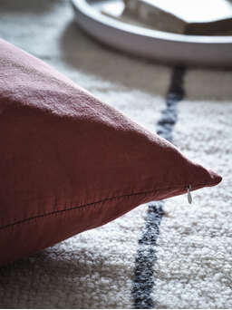 Nordic House Deep Rust Linen Cushion