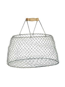 Nordic House Foldable Metal Wire Basket