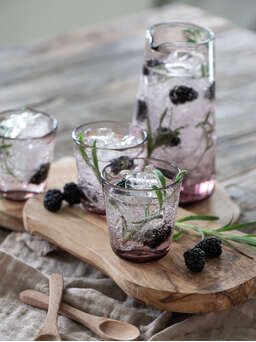 Nordic House Rose Tinted Wine Glasses