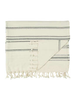 Nordic House Fringed Cotton Hammam Towel