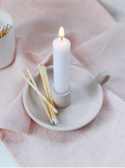 Nordic House Elise Candle Holder - Blush Pink