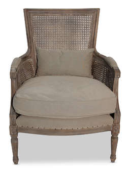Nordic House Gustavian Greywash Oak Chair