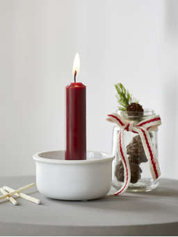 Nordic House White Ceramic Candle Holder