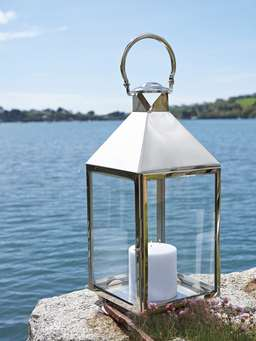 Nordic House Big Stainless Steel Lanterns