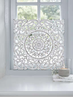 Nordic House Carved Wall Panel, Aina