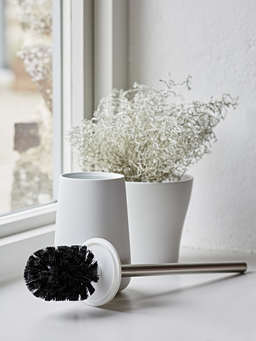 Nordic House Soft White Toilet Brush