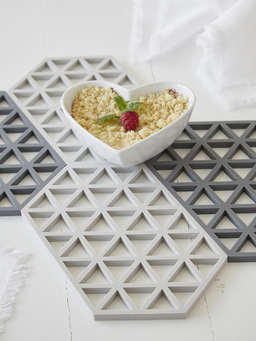 Nordic House Light Grey Silicone Trivet