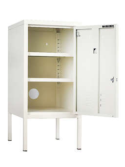 Nordic House Loft Style Lockers - White