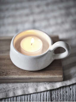 Nordic House Dillie Stoneware Tealight Holder