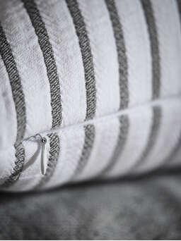 Nordic House Grey Striped Cushion