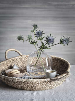 Nordic House Seagrass Tray Baskets