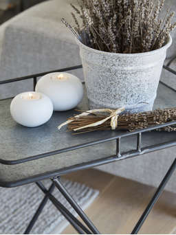 Nordic House Retro Zinc Tray Table