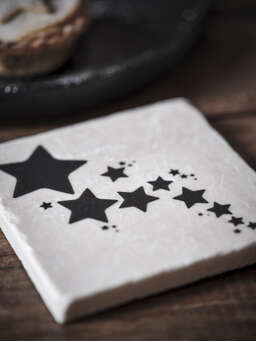 Nordic House Natural Stone Coasters - Cascading Stars