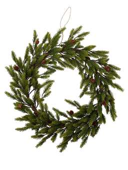 Nordic House Large Faux Pine Christmas Wreath