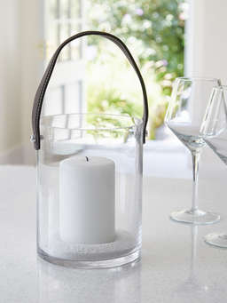 Nordic House Glass Hurricane Lantern