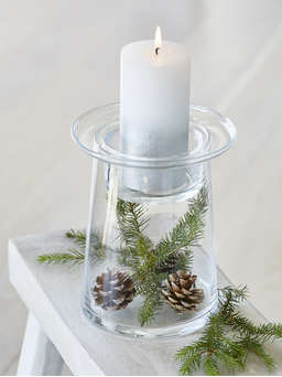 Nordic House Glass Pillar Candle Holder