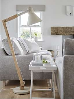 Nordic House Urban Floor Lamp - Chalk White