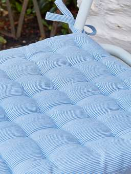 Nordic House Pin-Stripe Seat Pad - Nordic Blue
