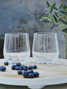 Nordic House Bubble Glass Tumblers - Round