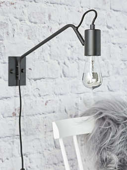 Nordic House Industrial Black Wall Lamp