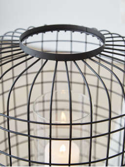 Nordic House Chic Wire Hurricane Lantern