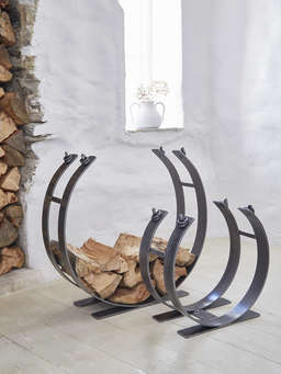 Nordic House Artisan Wrought Iron Log Ring