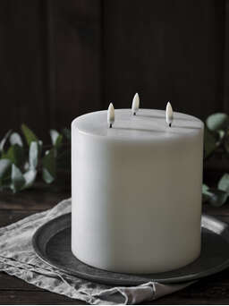 Nordic House Exquisite Triple Flame LED Candle