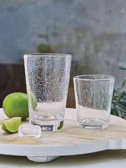 Nordic House Bubble Glass Tumblers- Tall