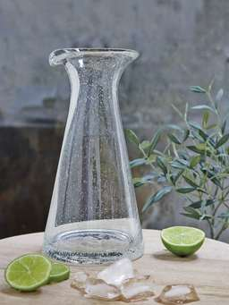 Nordic House Bubble Glass Carafe