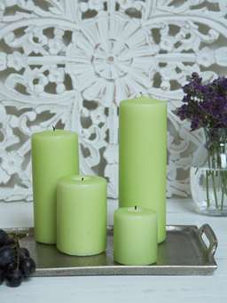 Nordic House Lime Pillar Candles