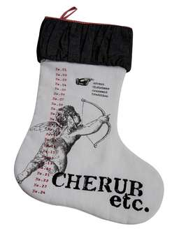 Nordic House Linen Christmas Stocking