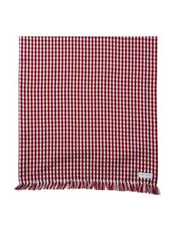 Nordic House Red Gingham Table Runner