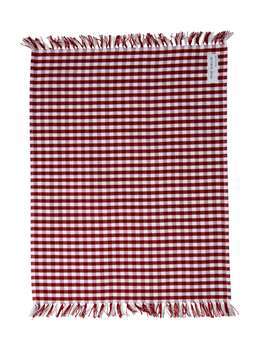 Nordic House Red Gingham Table Linens