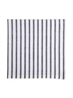 Nordic House Dark Blue Striped Table Linens
