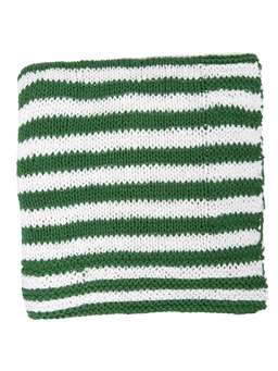Nordic House Knitted Throw - Green & White