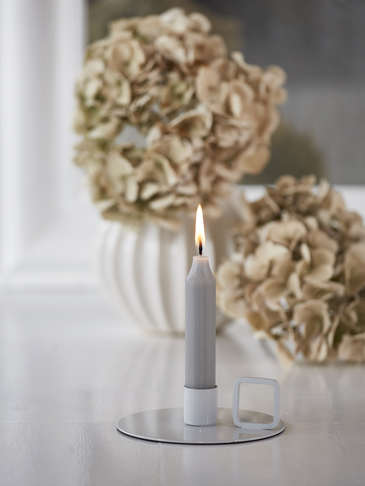 Freja Candle Holder - Pale Grey