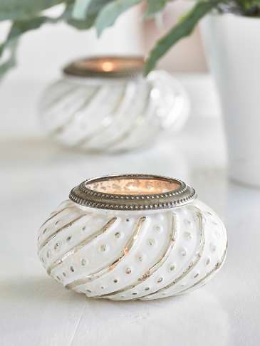 Vintage White Tealight Holder