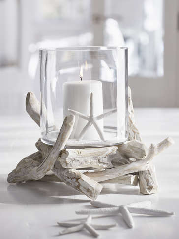 Nautical Driftwood Hurricane