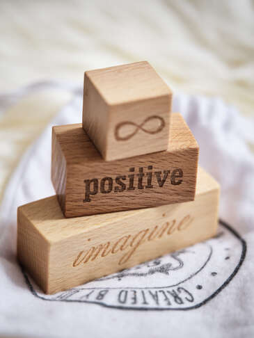 Hand-Crafted Wooden Blocks - Imagine