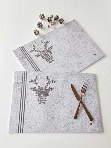 Nordic Paper Placemats - Pale Grey