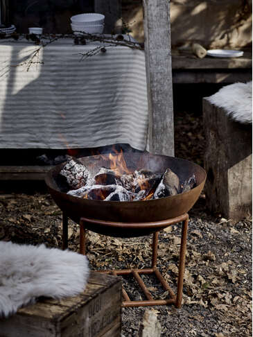 Rusty Cast Iron Firebowl