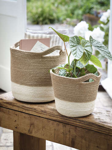 White Ombre Baskets
