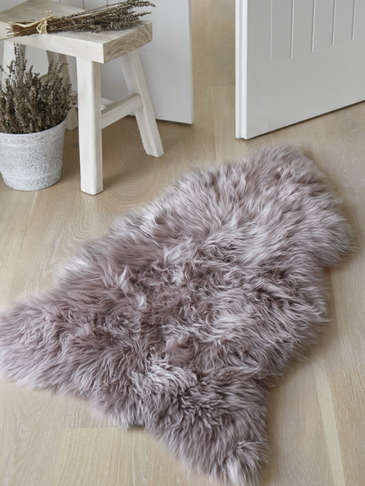 Luxurious Sheepskin Rug - Dove