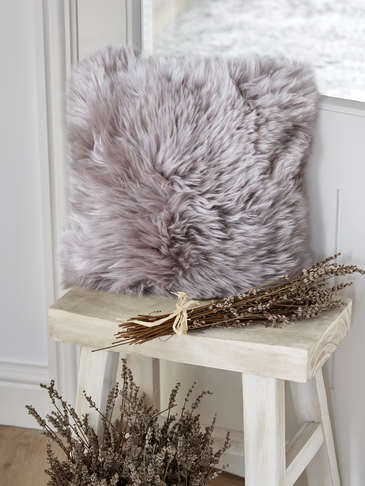 Luxurious Sheepskin Cushion - Dove
