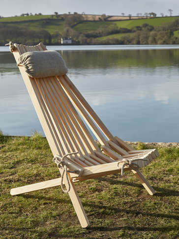 Larch Ecochair with Linen Headrest