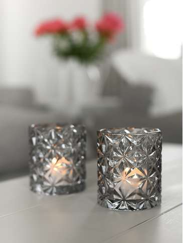 Grey Glass Votive